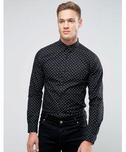 Selected Homme | Рубашка Узкого Кроя В Горошек