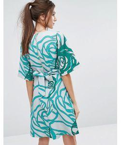 Closet London   Платье С Рукавами-Кимоно И Завязкой Сзади Closet