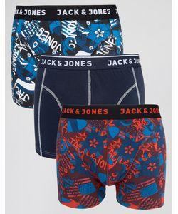 Jack & Jones | Набор Из 3 Боксеров-Брифов С Принтом В Стиле Граффити Jack