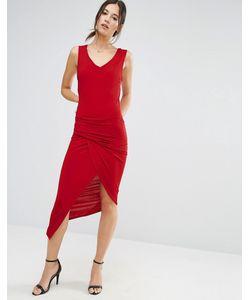 Liquorish | Платье Без Рукавов С V-Образным Вырезом И Асимметричными Сборками