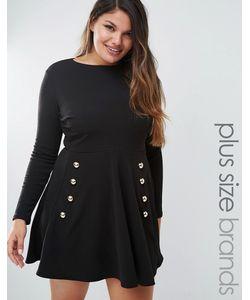 Club L | Короткое Приталенное Платье С Пуговицами Plus