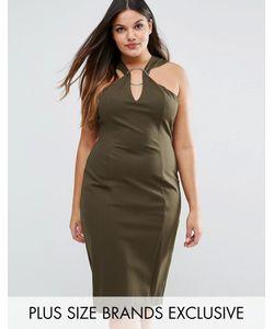 Lavish Alice Plus | Платье Миди С Металлическим Кольцом