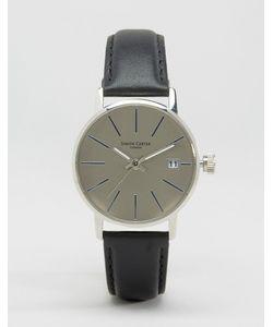 Simon Carter | Серебристые Часы С Серым Кожаным Ремешком