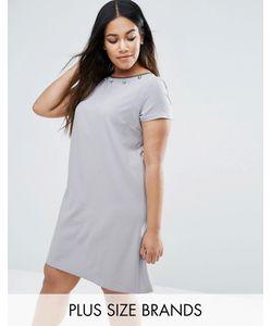 Elvi | Платье С Декоративной Отделкой Plus