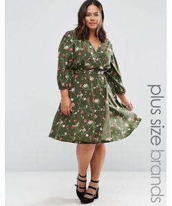 Yumi Plus | Платье С Запахом И Цветочным Принтом