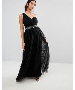 Little Mistress | Декорированное Платье Макси На Одно Плечо