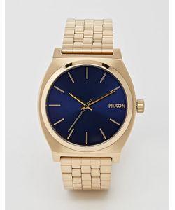 Nixon   Золотистые Часы Из Нержавеющей Стали Time Teller