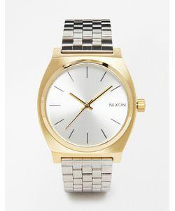 Nixon   Часы Из Контрастных Металлов Time Teller