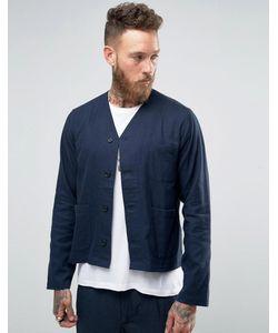 Hart Hollywood | Темно-Синяя Рубашка-Куртка С V-Образным Вырезом By Nick Hart