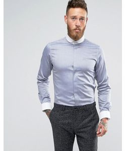 Hart Hollywood | Рубашка Узкого Кроя С Белым Закругленным Воротником
