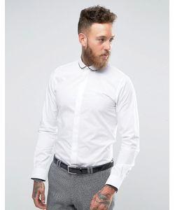Hart Hollywood | Рубашка Узкого Кроя С Окантовкой На Закругленном Воротнике