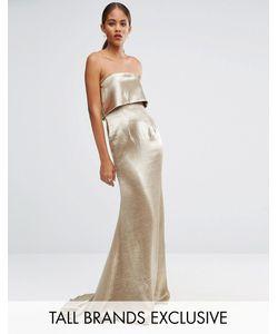 Jarlo Tall | Платье Макси С Накладкой Blaze