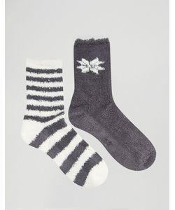 Totes | Носки С Полосками И Снежинками