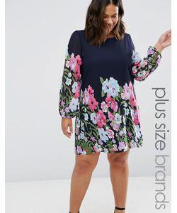 Yumi Plus   Цельнокройное Платье Размера Плюс С Цветочным Принтом