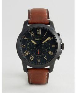 Fossil | Часы С Коричневым Кожаным Ремешком Fs5241 Grant