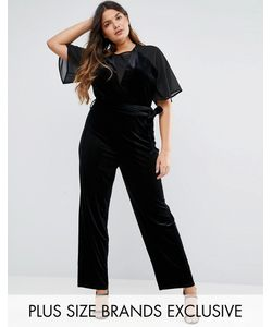 Truly You | Velvet Jumpsuit With Mesh Insert