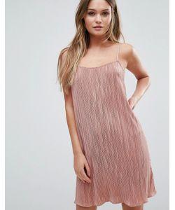 Lipsy | Плиссированное Платье На Тонких Бретельках