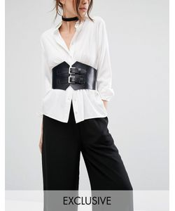 Retro Luxe London | Wide Double Buckle Leather Corset Belt