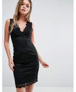 Lipsy | Облегающее Кружевное Платье С Фестонным Краем