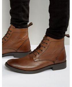 Dead Vintage   Светло-Коричневые Кожаные Ботинки На Шнуровке
