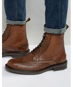 Dead Vintage   Светло-Коричневые Кожаные Ботинки-Броги