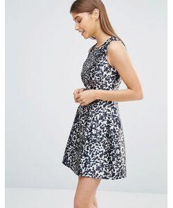 AX Paris | Короткое Приталенное Платье С Леопардовым Принтом