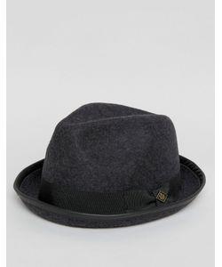 Goorin   Серая Мягкая Фетровая Шляпа С Загнутыми Полями