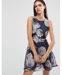 AX Paris | Короткое Приталенное Платье С Принтом