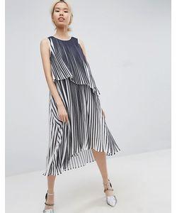 ASOS WHITE | Платье Миди Со Складками