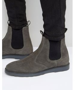Asos | Замшевые Ботинки Челси С Толстой Подошвой