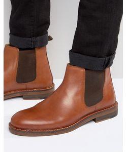 Asos | Светло-Коричневые Кожаные Ботинки Челси С Натуральной Подошвой