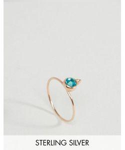 Asos | Серебряное Позолоченное Кольцо С Камнем Для Родившихся В Декабре