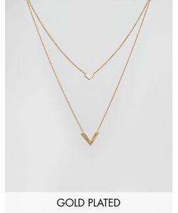 gorjana | Двухрядное Ожерелье С V-Образными Подвесками Knox