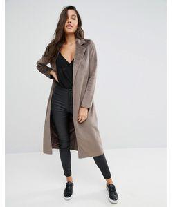 MISSGUIDED   Пальто С Отделкой Под Ворс Пони