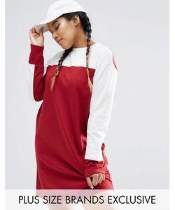 Daisy Street Plus | Свободное Платье Расцветки Колор Блок С Длинными Рукавами