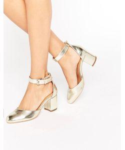 RAID | Золотистые Туфли На Каблуке С Ремешком Вокруг Щиколотки Jane