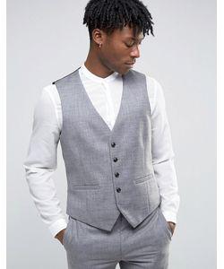 Burton Menswear | Фактурный Жилет Узкого Кроя