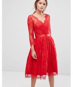 Chi Chi London | Платье С Кружевным Верхним Слоем