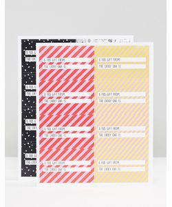 Monki | Christmas Gift Sticker Set