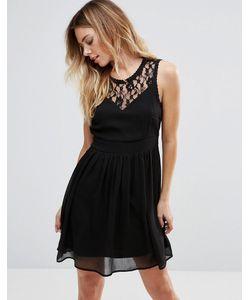 Vero Moda | Короткое Приталенное Платье С Кружевными Вставками