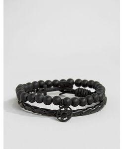 Icon Brand | Черные Браслеты Silverball