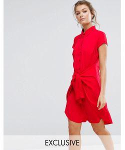 Closet London | Платье С Короткими Рукавами И Завязкой Спереди Closet