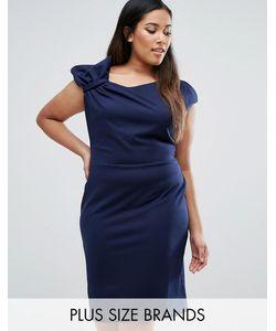 Goddiva plus | Платье-Футляр С Отделкой В Виде Банта