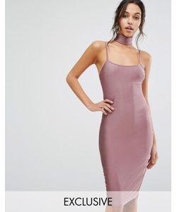 NaaNaa   Облегающее Платье Миди С Чокером
