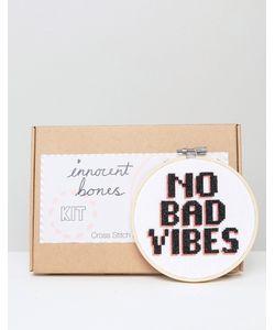 Innocent Bones | Набор Для Вышивания Крестиком No Bad Vibes