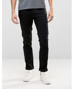 Nudie Jeans Co | Черные Узкие Джинсы Nudie Thin Finn