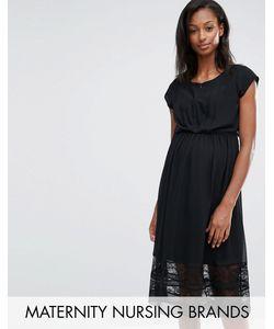 Mama Licious | Платье Для Беременных И Кормящих С Кружевной Отделкой Mamalicious Alexandra