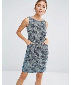 Closet London   Короткое Платье С Принтом Closet Blu Line