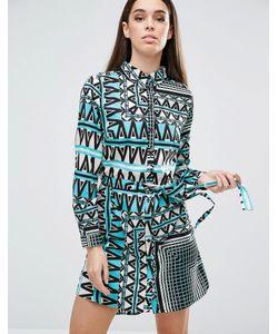 AX Paris   Платье-Рубашка С Принтом