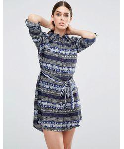AX Paris | Платье-Рубашка С Принтом Слона